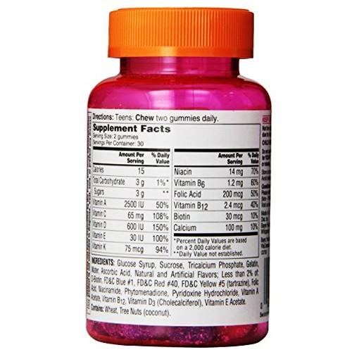 Tác dụng nổi bật của one-a-day vitacraves teen vitamins for her gummies