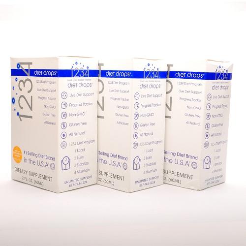 Tpcn giảm cân nhanh 1234 diet drops, bộ gồm 3 sản phẩm