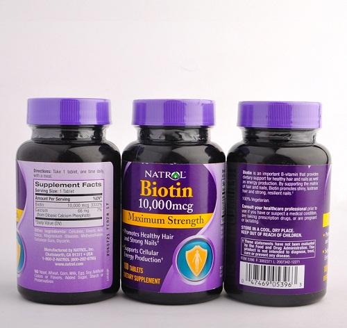 Bộ 3 sản phẩm natrol - biotin maximum strength