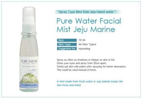 Xịt khoáng muối biển hàn quốc the face shop pure water facial mist 70ml