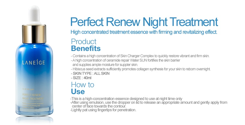 Laneige perfect renew night treatment