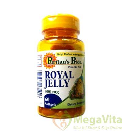 Puritan pride royal jelly: thuoc uống sữa ong chúa mỹ 500 mg, 60 viên