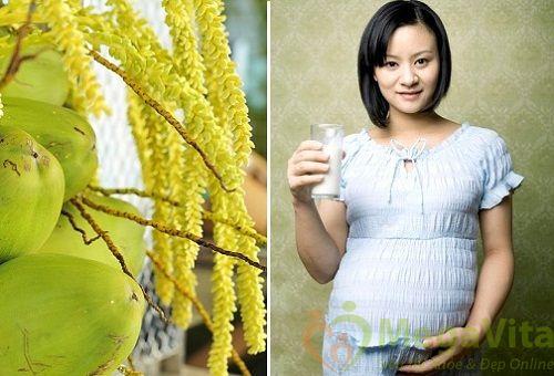Phụ nữ mang thai tháng thứ 4 có nên uống nước dừa