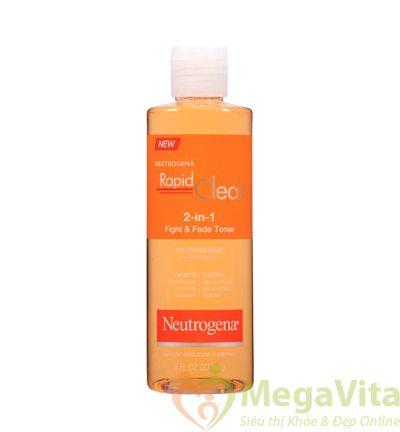 Neutrogena rapid clear 2trong 1 fight & fade toner - trị mụn trứng cá hiệu quả 236ml