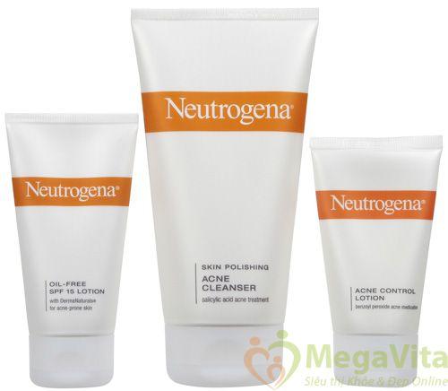 Neutrogena complete acne therapy system - bộ ba trị mụn siêu tốc trong 48h