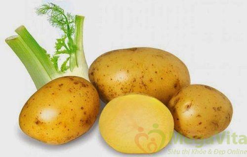 Sử dụng mặt nạ khoai tây sữa tươi cho da nhờn