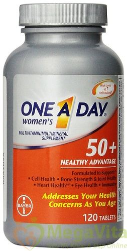 Tpcn bổ sung dưỡng chất cho phụ nữ trung niên trên 50 tuổi: one a day® women's 50+ healthy advantage 120 viên