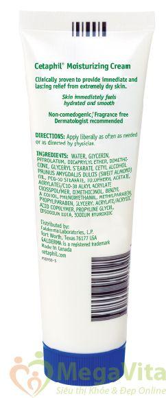 Cetaphil moisturizing cream for dry, sensitve skin 85g: kem dưỡng ẩm da dành cho da khô và da nhạy cảm