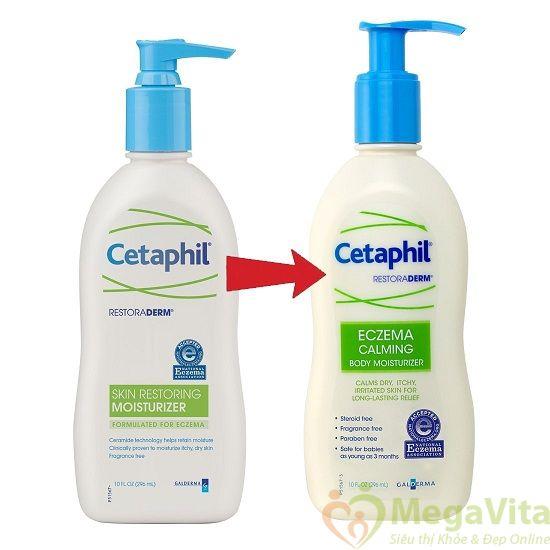 Cetaphil restoraderm eczema calming body moisturizer 296ml: kem dưỡng thể hỗ trợ điều trị chứng czema