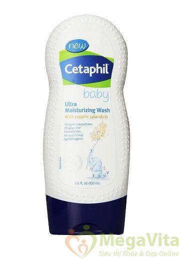 Sữa tắm dưỡng ẩm da cho bé cetaphil baby ultra moisturizing wash 230ml