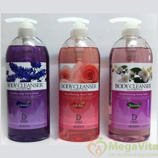 Dabo body cleanser: bộ sữa tắm nhiều loại, 750ml