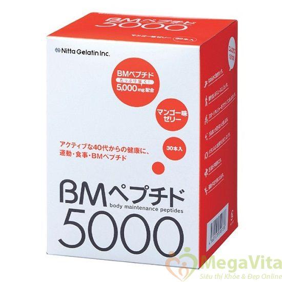 Thạch collagen tăng cường sức khỏe, da sáng bóng, mịn màng nitta gelatin inc bm 5000 15 gói