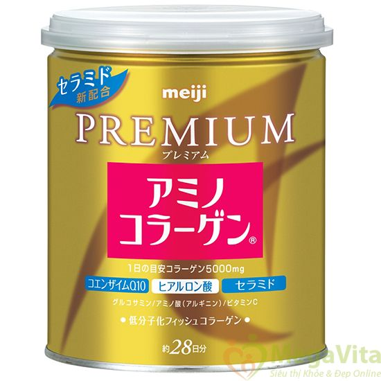 Meiji premium amino collagen - bột bổ sung collagen tự nhiên cho cơ thể, 200g