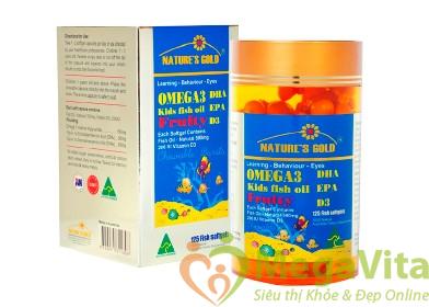 Nature's gold omega 3: dầu cá dành cho trẻ em, 125 viên