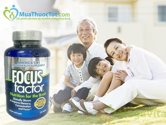 Focus factor dietary supplement - thuốc bổ não, tăng cường trí nhớ cho học sinh và người già, 150 viên