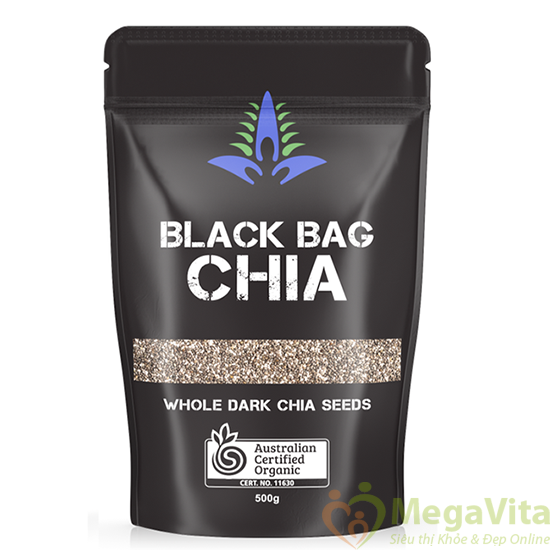 Hạt chia Úc black bag chia – giải pháp chăm sóc sức khỏe từ thiên nhiên, gói 500g