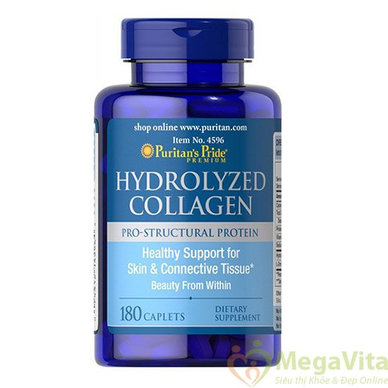 Collagen Ngăn chặn nhăn làn da, chăm sóc ẩm, làm chậm cân, cung cấp năng lượng cho ai bổ sung dinh dưỡng kiêng Puritans Pride Hydrolyzed Collagen hộp 180 viên