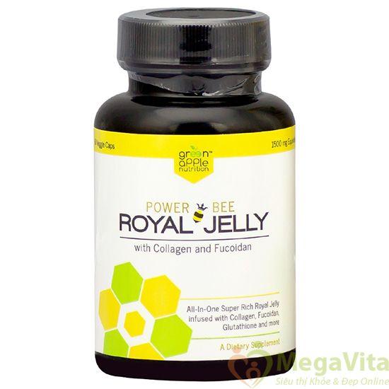 Viên uống sữa ong chúa giúp đẹp da, ngừa ung thư, bảo vệ xương khớp power bee royal jelly của mỹ hộp 60 viên