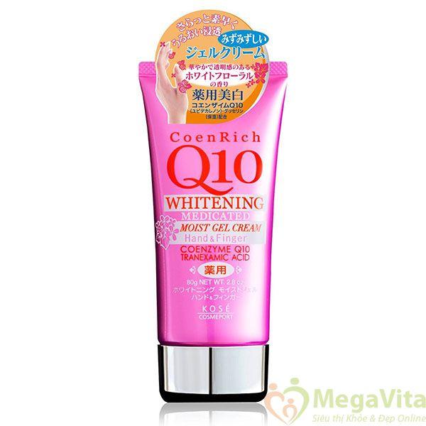 Kem dưỡng trắng da tay kose coen rich q10 whitening medicated 80g