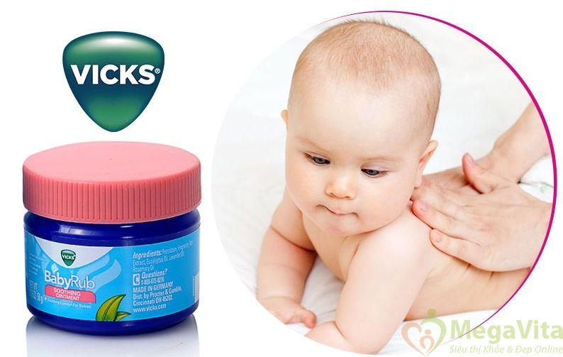 Dầu giữ ấm cho bé 3 tháng tuổi vicks babyrub 50g