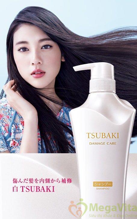 Bộ dầu gội tsubaki trắng phục hồi tóc hư tổn 500ml của shiseido