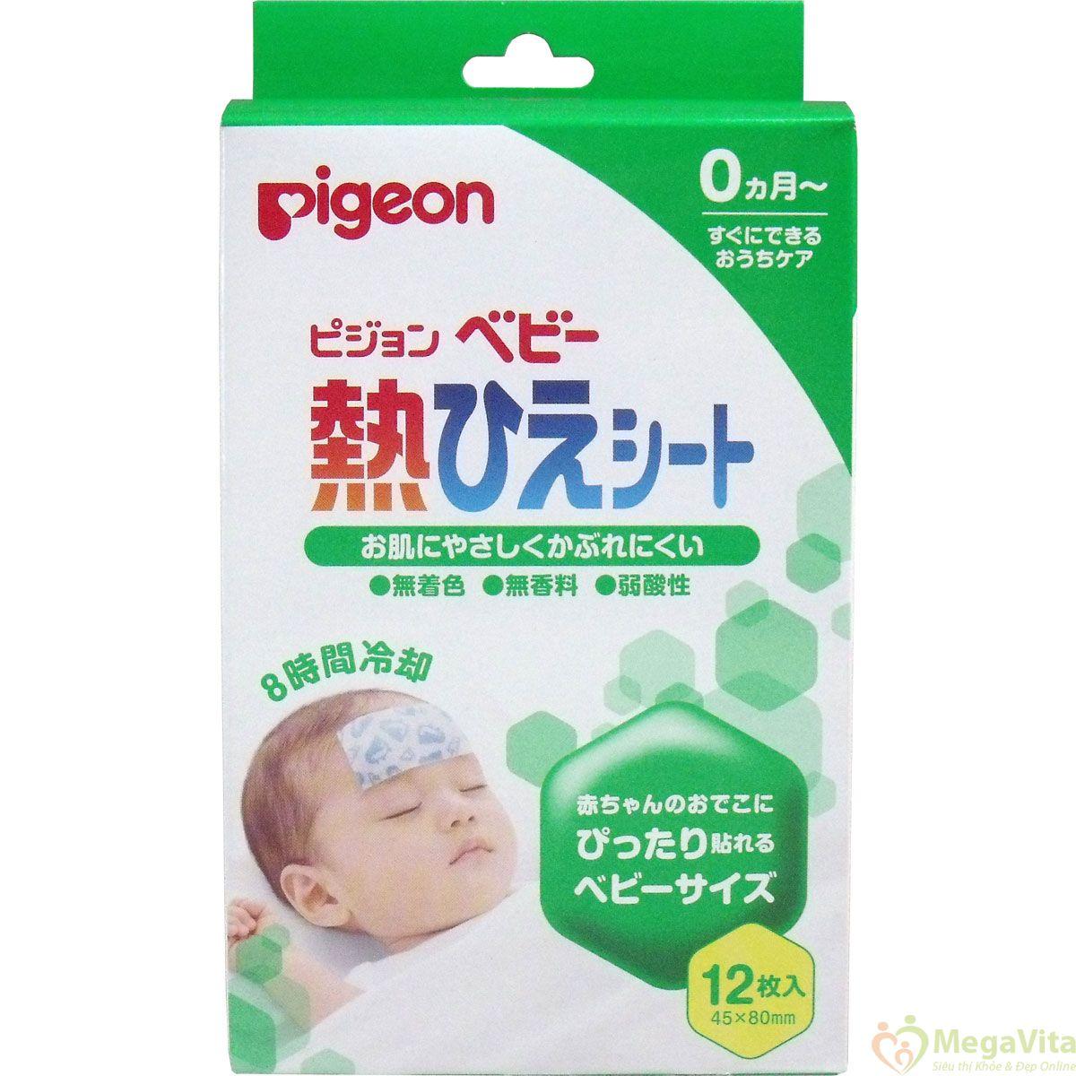 Miếng dán hạ sốt pigeon cho bé yêu hộp 12 miếng
