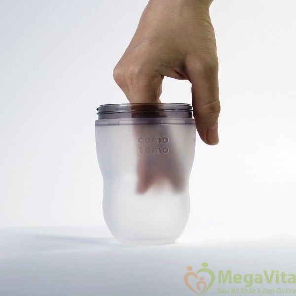 Bộ 2 bình sữa como tomo siêu mềm màu hồng của mỹ 250ml