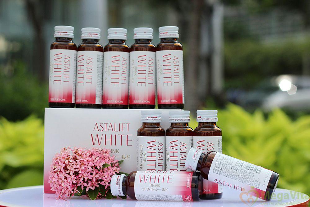 Nước uống bổ sung collagen làm sáng da astalift drink whiteshield của nhật bản hộp 10 chai
