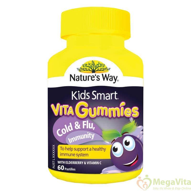 Kẹo dẻo tăng cường hệ miễn dịch cho bé kids smart vita gummies cold and flu, immunity hộp 60 viên