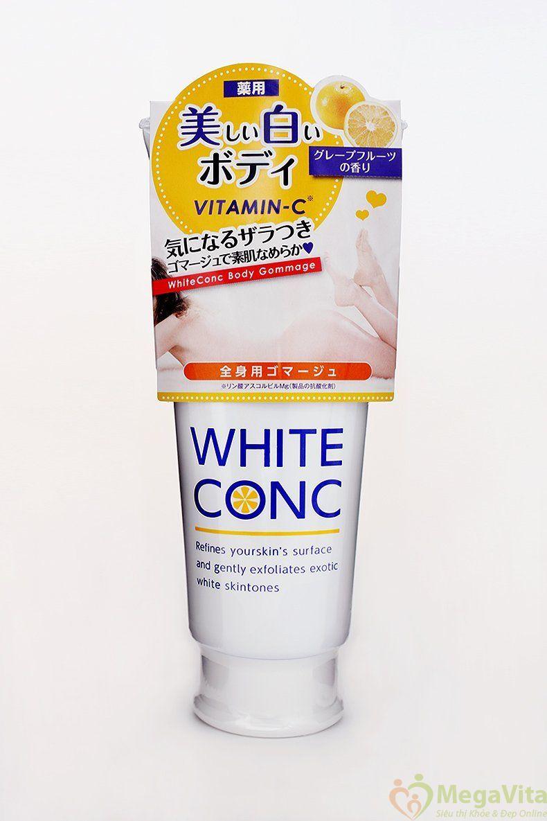 Tẩy tế bào chết dưỡng trắng da toàn thân white conc 180g của nhật bản