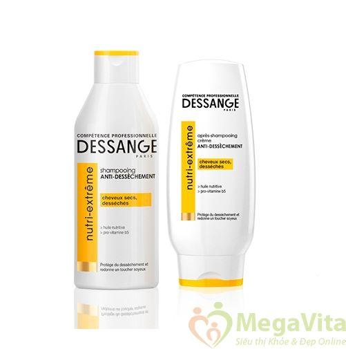 Bộ dầu gội và dầu xả dưỡng mượt tóc dành cho tóc khô xơ, hư tổn dessange nutri extreme của pháp