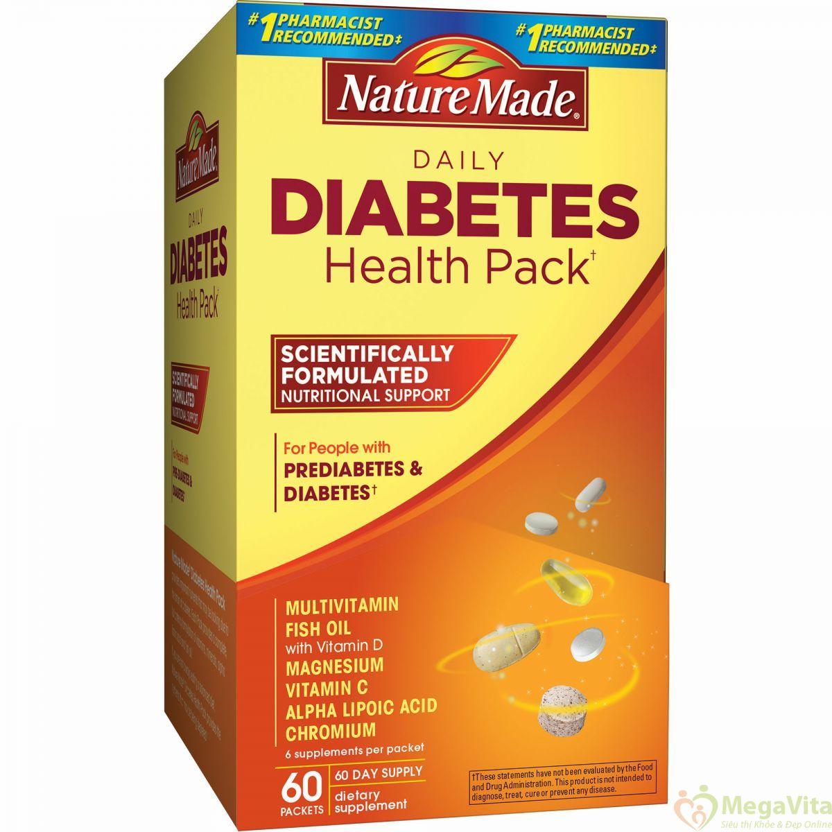 Top 3 thực phẩm chức năng cho người tiểu đường tốt hiện nay