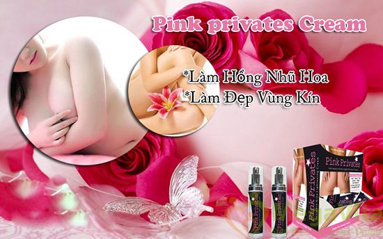 Kem làm hồng nhũ hoa và vùng kín pink privates cream usa 30ml