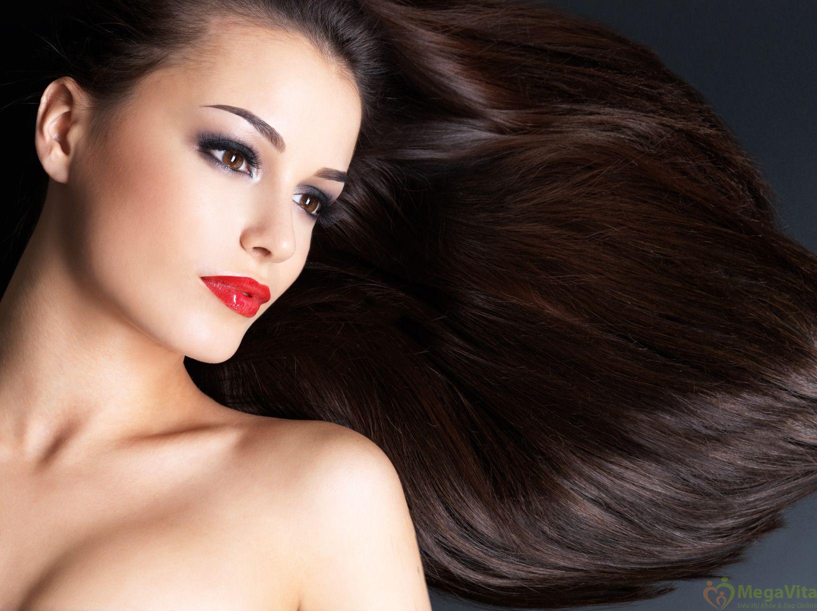 Thuốc nhuộm tóc thảo dược bền màu, ngăn rụng tóc hair dye henna glory of new york màu nâu của mỹ hộp 6 gói