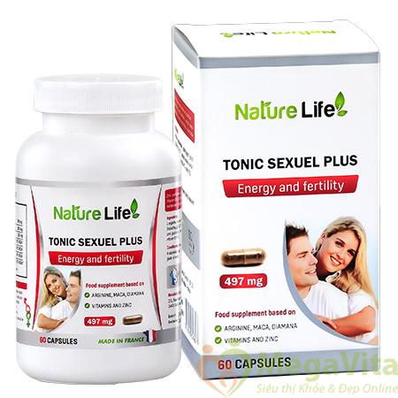 Viên uống tăng cường sinh lý và sự dẻo dai cho nam và nữ nature life tonic sexuel plus của pháp hộp 60 viên