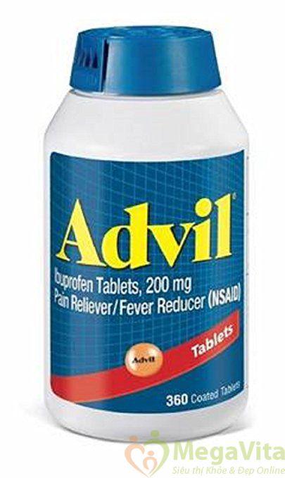 Thành phần của viên uống giảm đau advil liquigels