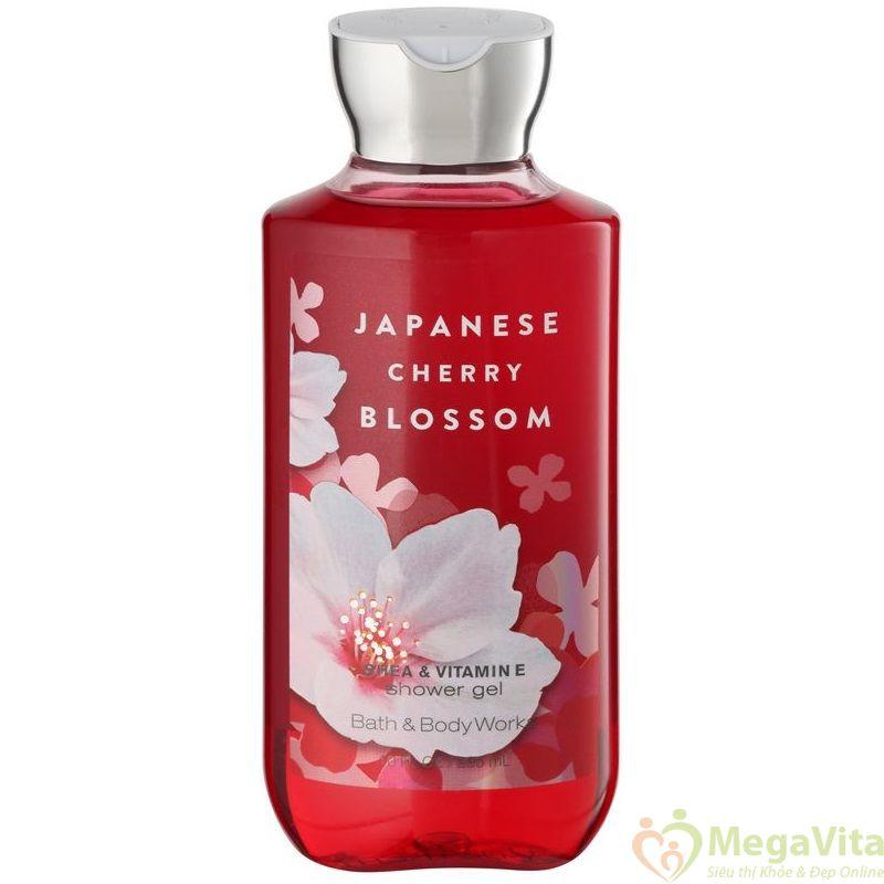 Sữa tắm dưỡng ẩm hương hoa đào nhật bản japanese cherry blossom bath and body works 295ml