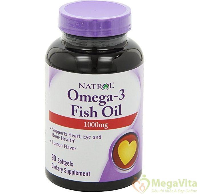 Viên uống bổ sung omega 3 tăng cường trí não, thị giác, bảo vệ tim mạch natrol omega 3 fish oil 1000mg của mỹ hộp 90 viên