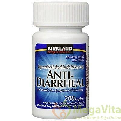 Kirkland signature anti-diarrheal loperamide hydrochloride: viên uống hỗ trợ bệnh tiêu chảy, 200 viên
