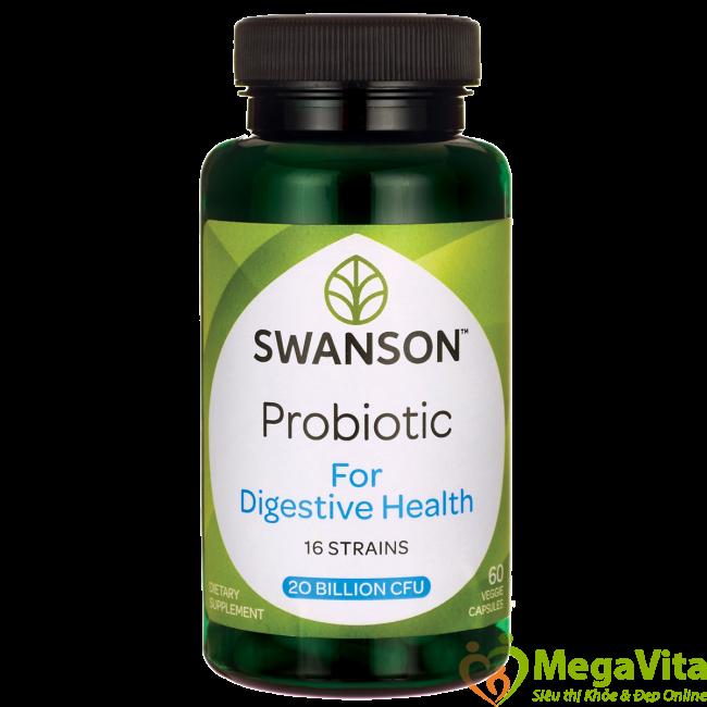 Viên uống bổ sung probiotic hỗ trợ đường ruột khỏe mạnh swanson probiotic for digestive health hộp 60 viên