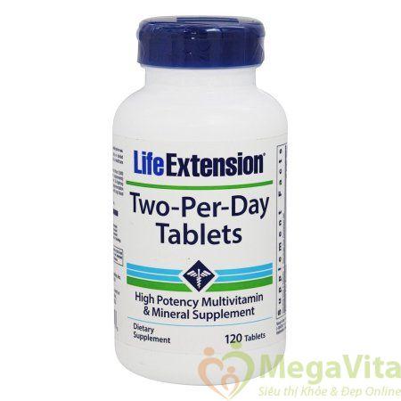 Viên uống bổ sung vitamin và khoáng chất hàm lượng cao life extension two per day 120 viên