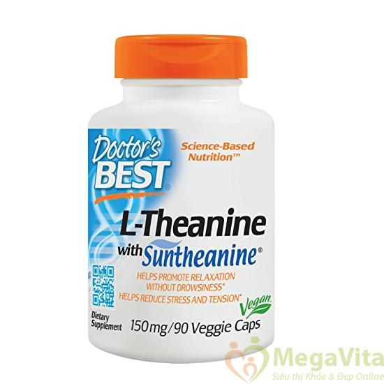 Doctor's best suntheanine l-theanine: thuốc giảm stress, mệt mỏi và cải thiện tinh thần, 90 viên
