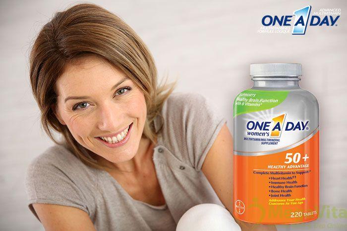 One a day women's 50+ healthy advantage: thuốc bổ sung dinh dưỡng cho phụ nữ trên 50 tuổi, 220 viên