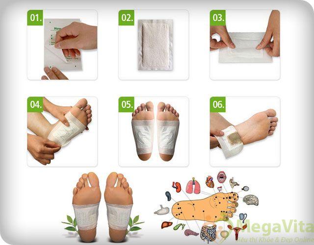 Miếng dán thải độc bàn chân kenko nhật bản hộp 30 gói