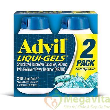 Giảm đau advil liqui gels.