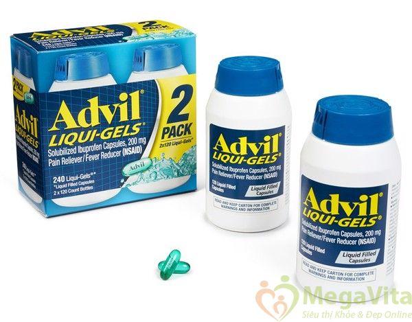 Công dụng của viên uống giảm đau hiệu quả advil liqui gels